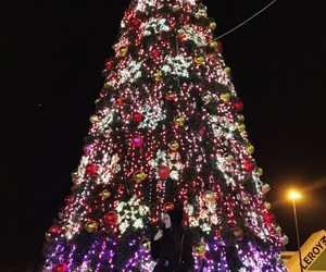 black, christmas, and christmas tree image