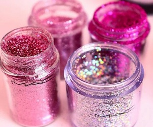 mac, pink, and glitter image