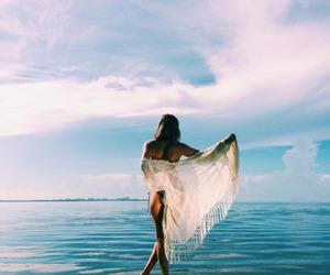 beach, horizon, and sexy image