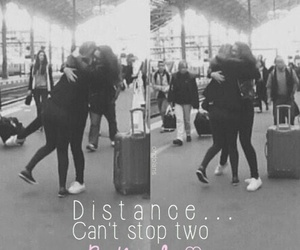 distance, love, and friendship image