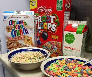 bowl, breakfast, and cereal image