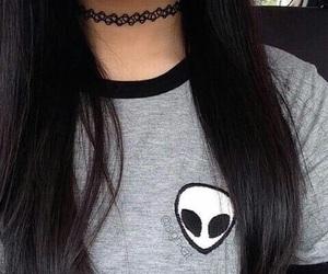 black, alien, and hair image