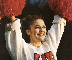 drew barrymore, cheerleader, and 90s image