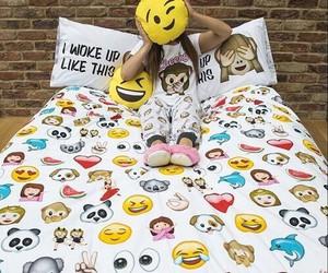 emoji, emojis, and bed image