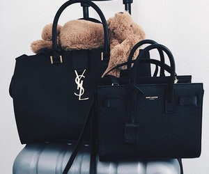 bag, fashion, and black image
