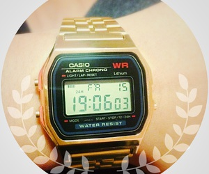 beauty, casio, and gold image