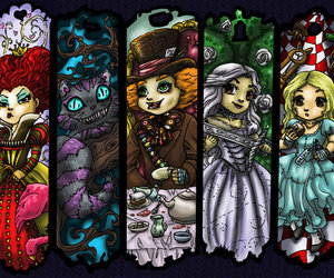 disney and alice alice in wonderland image