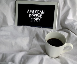 black, coffee, and american horror story image