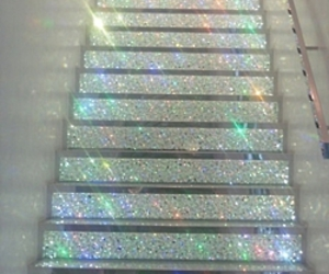 glitter, stairs, and pale image
