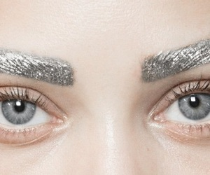 gold, eyes, and eyebrows image