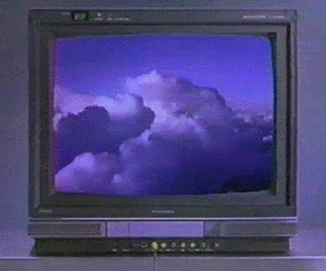 purple, clouds, and gif image