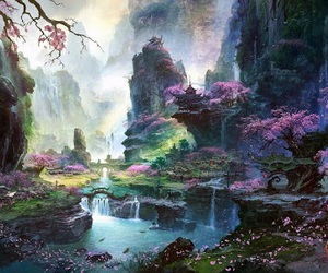 fantasy, art, and nature image