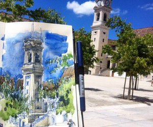 architecture, art, and blue image