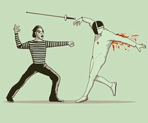mimo, fencing, and mime image
