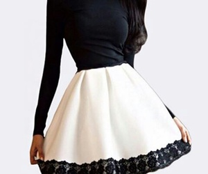 dress, black, and white image