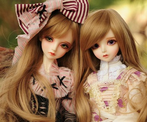 doll, pink, and kawaii image
