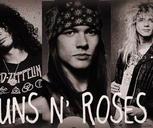 axl rose, duff mckagan, and slash image