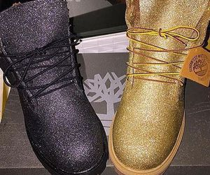 shoes, timberland, and glitter image