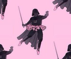 pink, star wars, and darth vader image