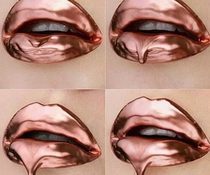 lips, makeup, and rose gold image