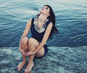 girl, fashion, and ocean image