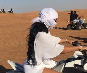 white, desert, and Dubai image