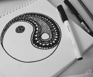 black and white and yin and yang image