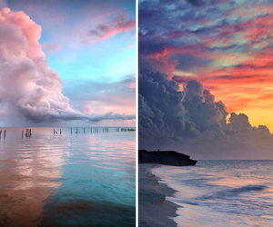 sky, nature, and ocean image