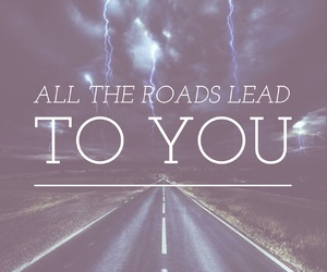 quote, road, and love image