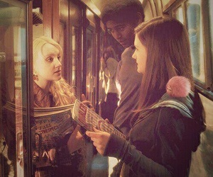harry potter, luna lovegood, and ginny weasley image