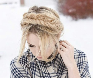 blonde, braids, and hair image