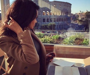 girl, brunette, and rome image