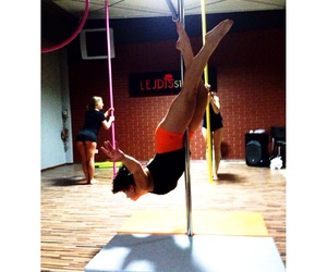 strong, poledancing, and fit image