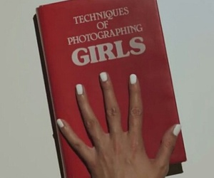 red, girl, and book image