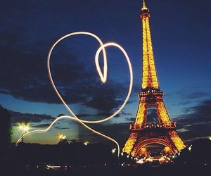 paris, france, and heart image