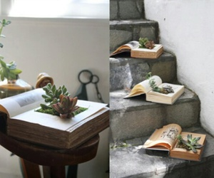 book, plants, and diy image