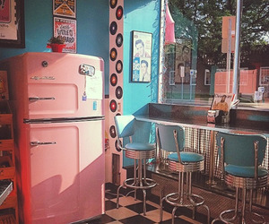 70s, diner, and kitchen image