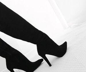 aesthetic, black, and heels image
