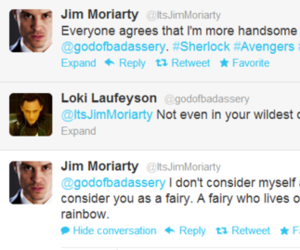 funny, sherlock, and twitter image