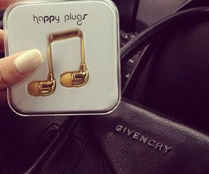 music, Givenchy, and gold image