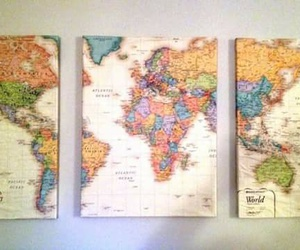map and world image