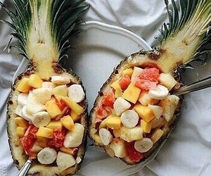fruit, healthy, and ananas image