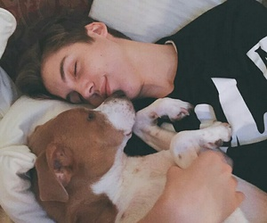 matthew espinosa, dog, and magcon image