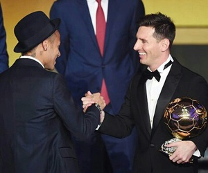 neymar, messi, and ballon d'or image