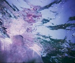 water, purple, and grunge image