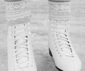 skates, white, and girl image