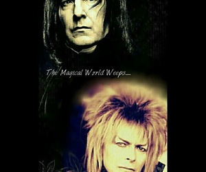 bowie, labyrinth, and snape image