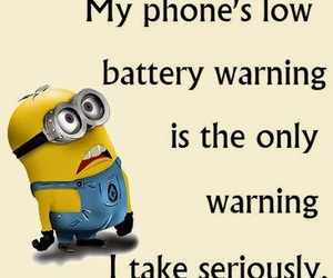 funny, minions, and phone image