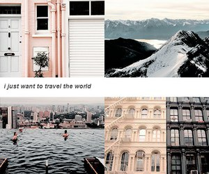 travel, world, and pink image
