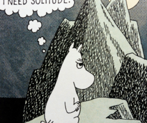 moomintroll, mountains, and solitude image
